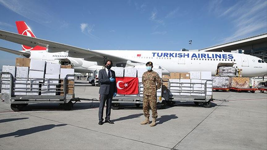TURKEY SENDS MEDICAL EQUIPMENTS ALL OVER THE WORLD AGAINST COVID-19 20